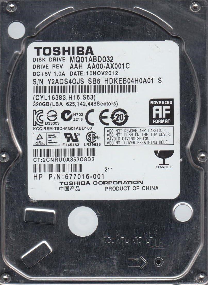 AA00//AX001C MQ01ABD032 Toshiba 320GB SATA 2.5 Hard Drive HDKEB04H0A01 S