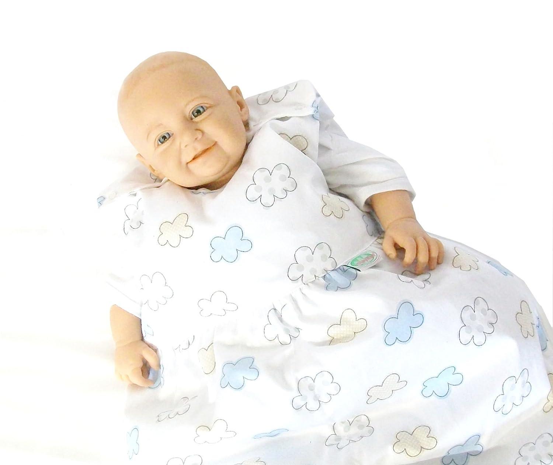 Gr/ö/ße:70 Odenw/älder BabyNest Daunen-Schlafsack//Kinderschlafsack//Babyschlafsack waschbar//Winterschlafsack atmungsaktiv//leichter Daunenschlafsack Design:Wolke bleu