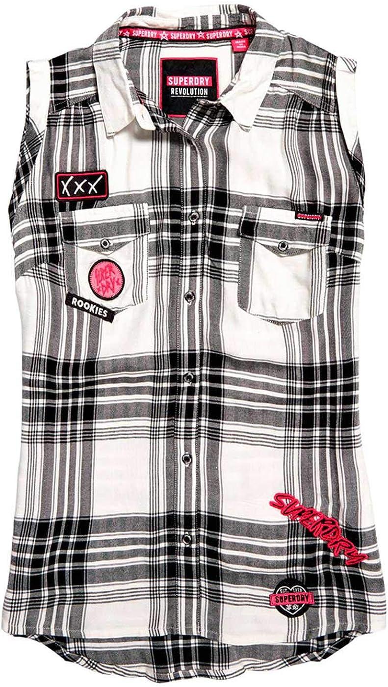 Superdry Camisa Asas Badged Cuadros para Mujer M: Amazon.es: Ropa y accesorios