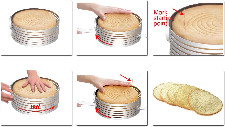 Cake Leveler-Cake Slicer-Cake Mold Adjustable Stainless Steel