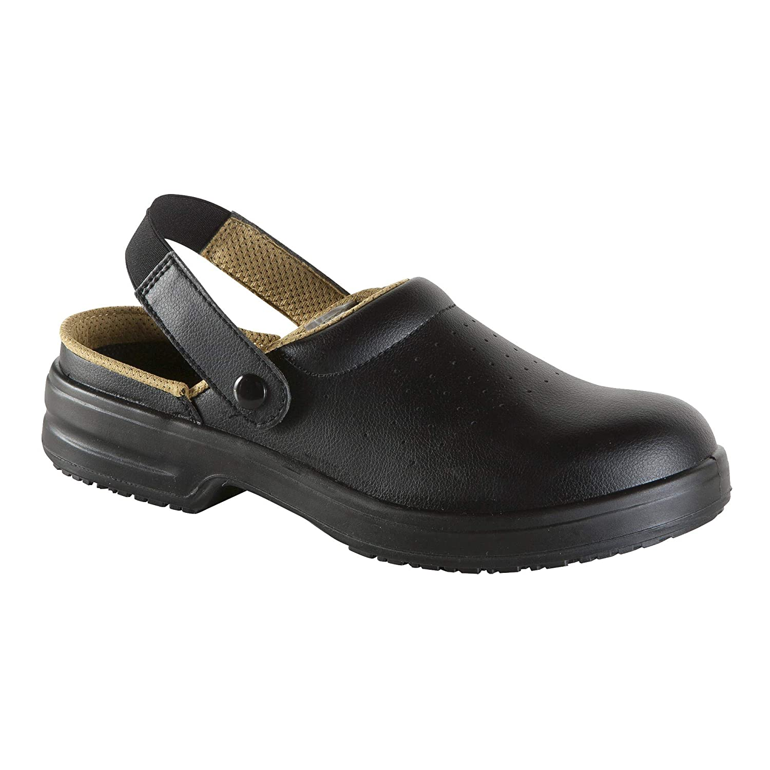 2c07694132c ESD Safety Footwear Unisex Black Safety Clogs With Steel Toe