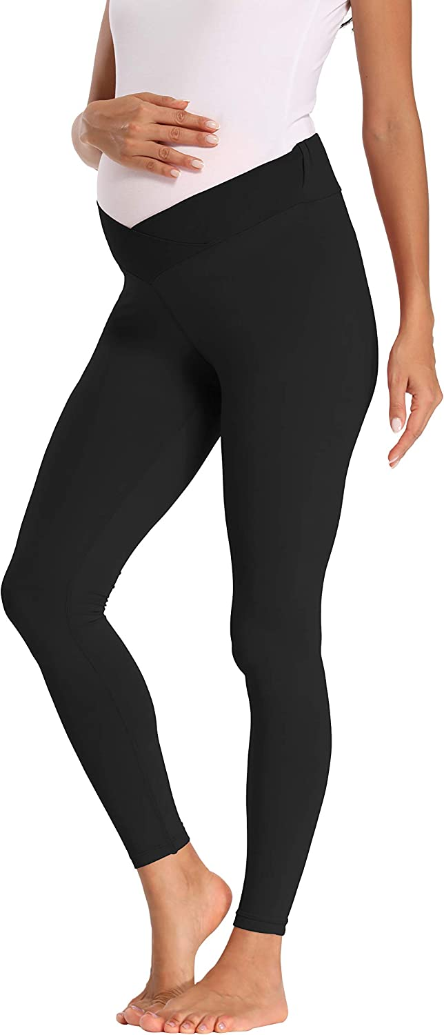 Amazon Com Foucome Women S Under The Belly Super Soft Support Maternity Leggings Clothing