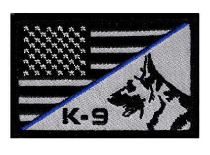 Amazon.com  K-9 Usa American Flag Thin Blue Line Police Swat ... 292299e4578