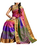 Generic Women's Georgette Saree With Blouse Piece (Cla-Jit-01-02, Multicolor, Free Size)