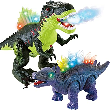 Electric Dinosaur Toy Walk And Roar Simulation Animal Model Kids toys Gift