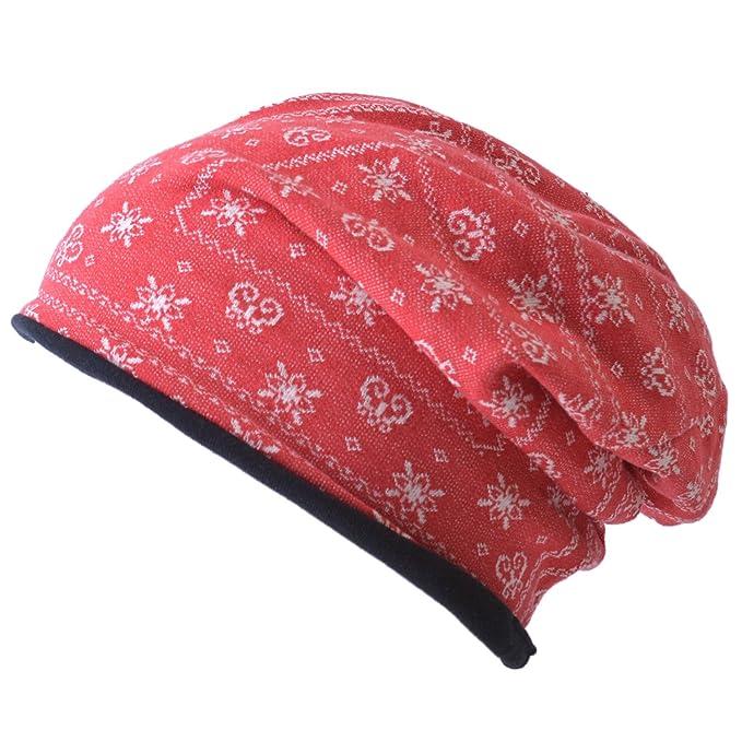 Casualbox Orgánico Algodón Gorros Beanie Sombrero - Reversible Bandana  Patrón Moda Gorra - Hecho En Japón - Unisex Moda Rojo  Amazon.es  Ropa y  accesorios 2d73918e862