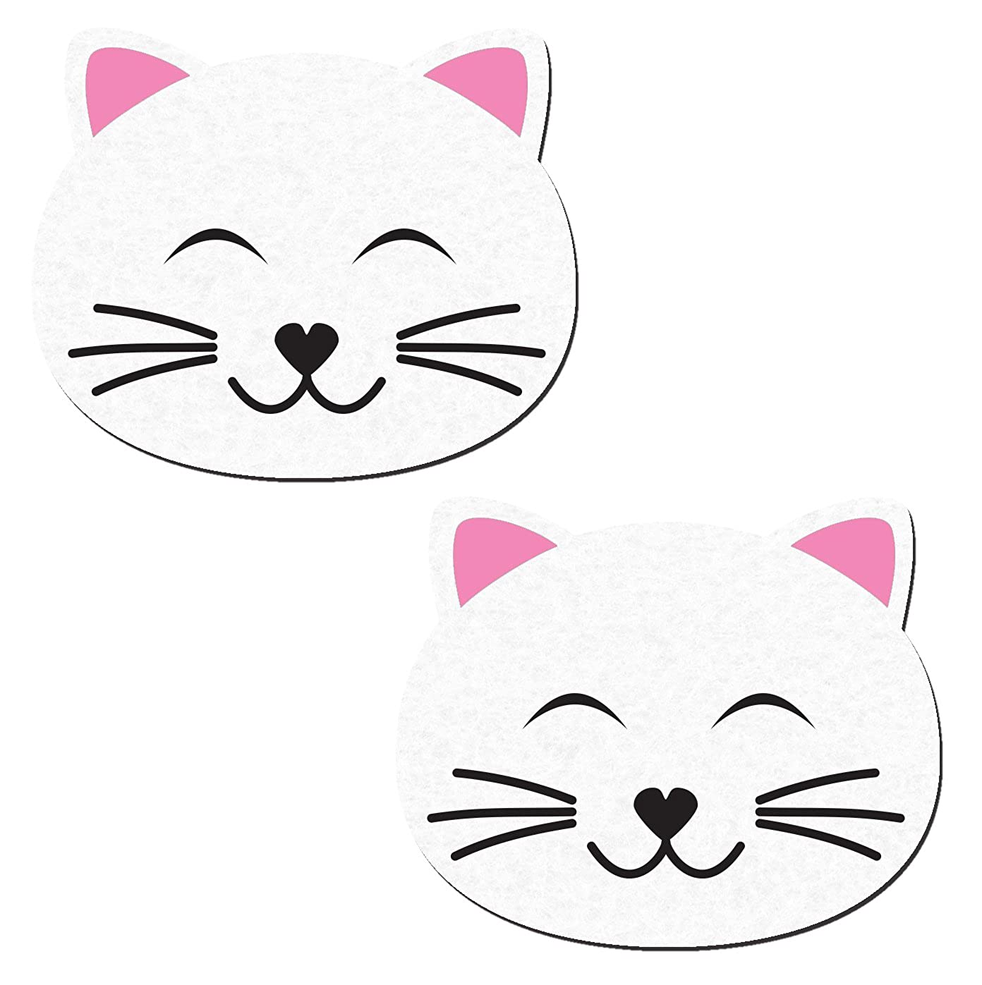Pastease Women's Happy White Kitty Cat Nipple Pasties o/s CAT-CL-WT