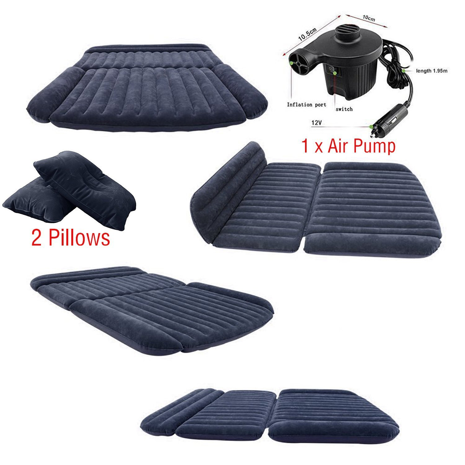 Lightweight sleeping pad self inflatable pad Swimming pool floating pad Maximum Insulation using Special Air Tube Design for Camping sleeping mat nflatable Sleeping Pad with Built In Pump