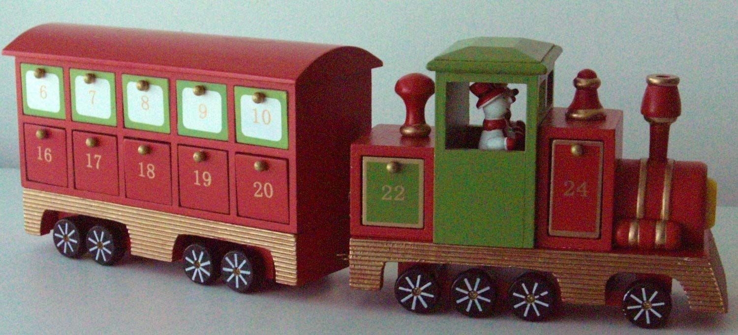 Country Baskets 15 cm Toy Town Advent Steam Train, Multi-Colour 10391039002122