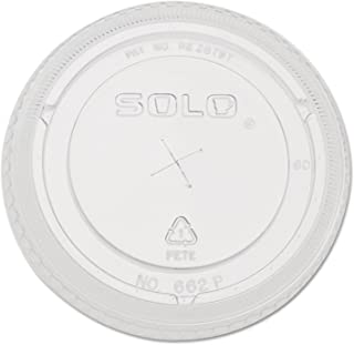 product image for Straw-Slot Cold Cup Lids, 16oz Cups, Clear, 100/Pack