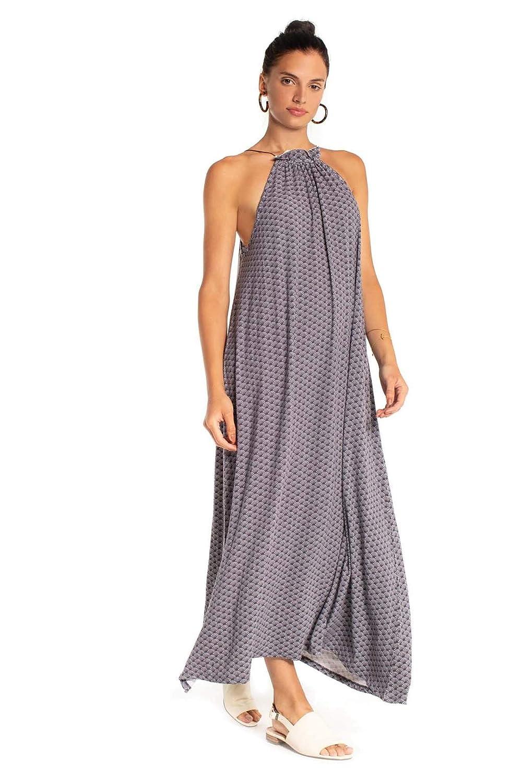 Insignia bluee Synergy Organic Clothing Wave Print Havana Dress