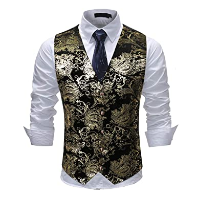 5f861b6c7c Cloudstyle Mens Single Breasted Vest Dress Vest Slim Fit Button Down Prom  Formal Suit Vest Waistcoat