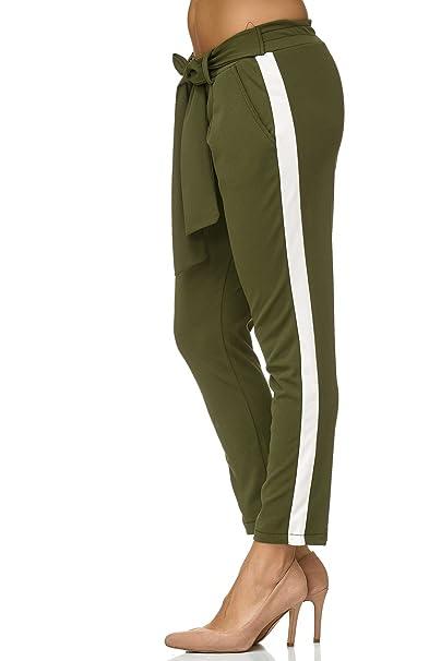 Donna itAbbigliamento Pantaloni Verde Elara Chino 44Amazon yvNwn08Om