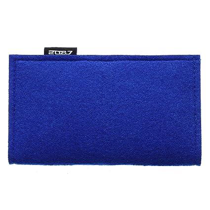 XSY Cartera para Mujeres Monedero del Largo Monedero Tela de Fieltro Puro Color Azul