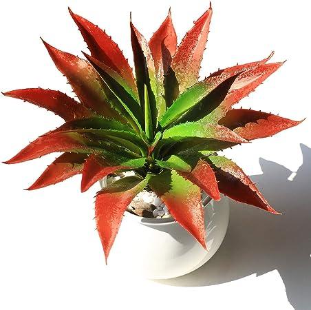 JUSTOYOU Plantas artificiales 30 cm de ancho, verde, toque real, plantas suculentas para jardín interior y exterior, decoración baño: Amazon.es: Hogar