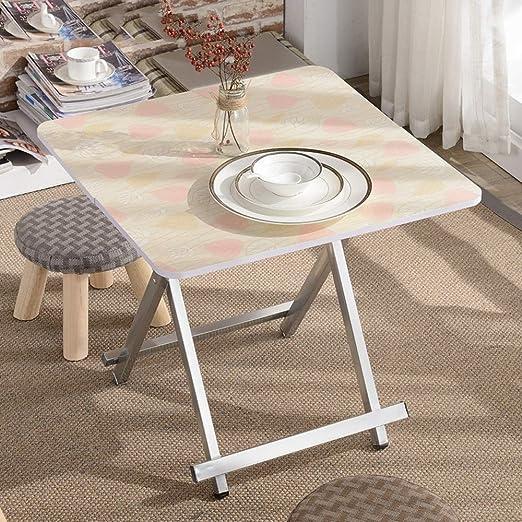 Yuany Mesa Plegable Mesa de Comedor para el hogar Mesa para Comer ...