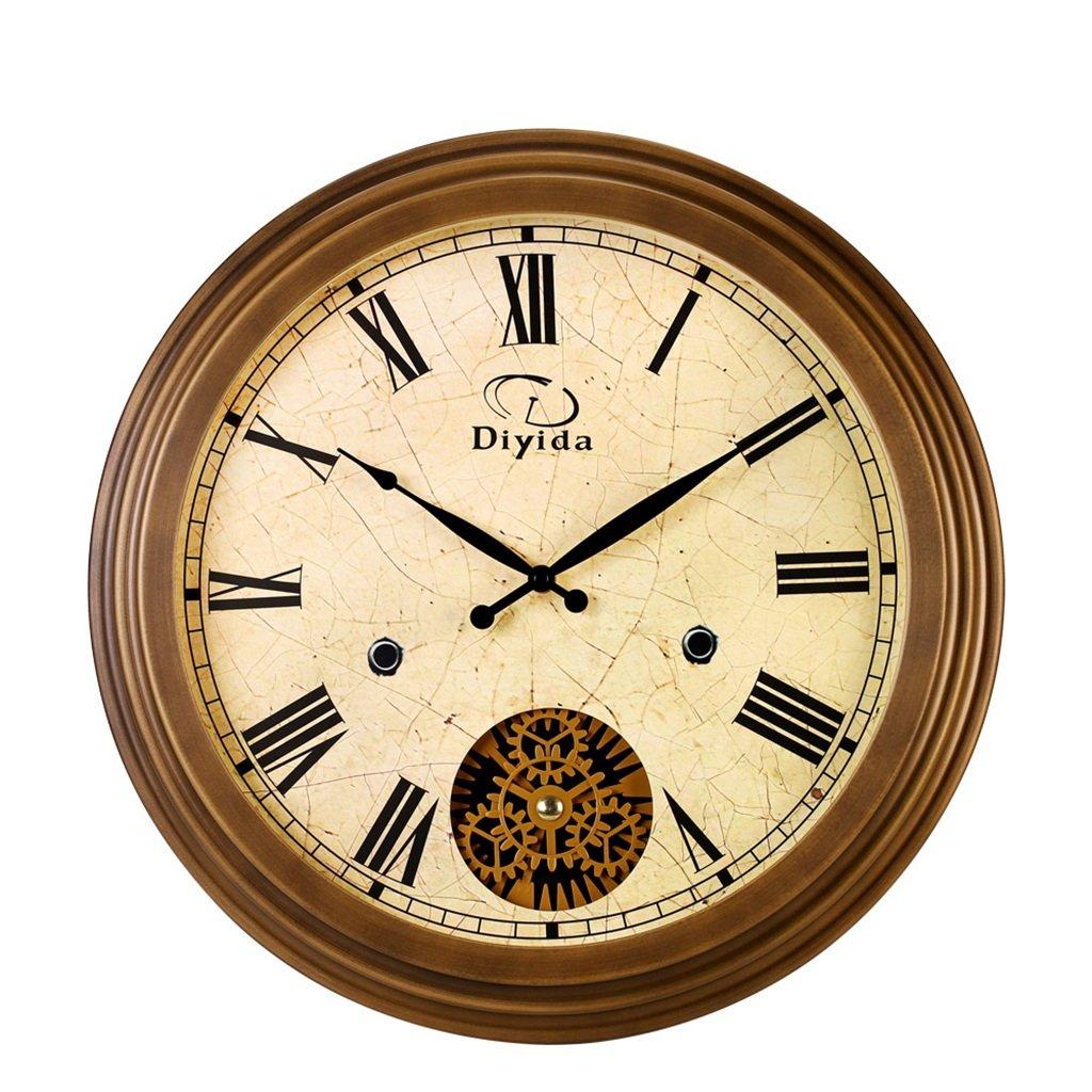 JCRNJSB® ヨーロッパスタイルの壁時計のリビングルームクリエイティブミュートギアの芸術のクォーツ時計 壁掛けサスペンション クロックウォールクロック クォーツ時計 B07D3KGMY7