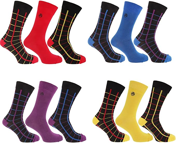 3 Pairs of Super Soft Natural Bamboo Socks UK 7-11 EU 40-45 Red Paisley