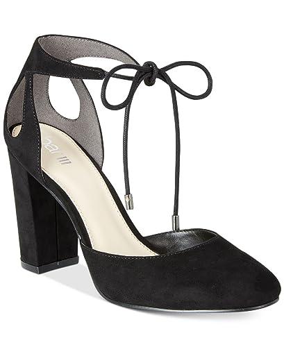 928e9ff464e8b Amazon.com | Bar III Womens Sabrina Lace-Up Block-Heel Pumps Shoes ...
