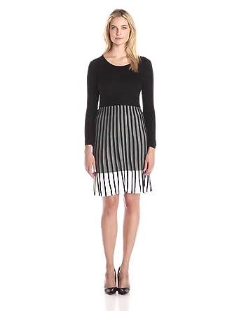 39cb10cef2 Calvin Klein Women s Long-Sleeve Ombre Sweater Dress