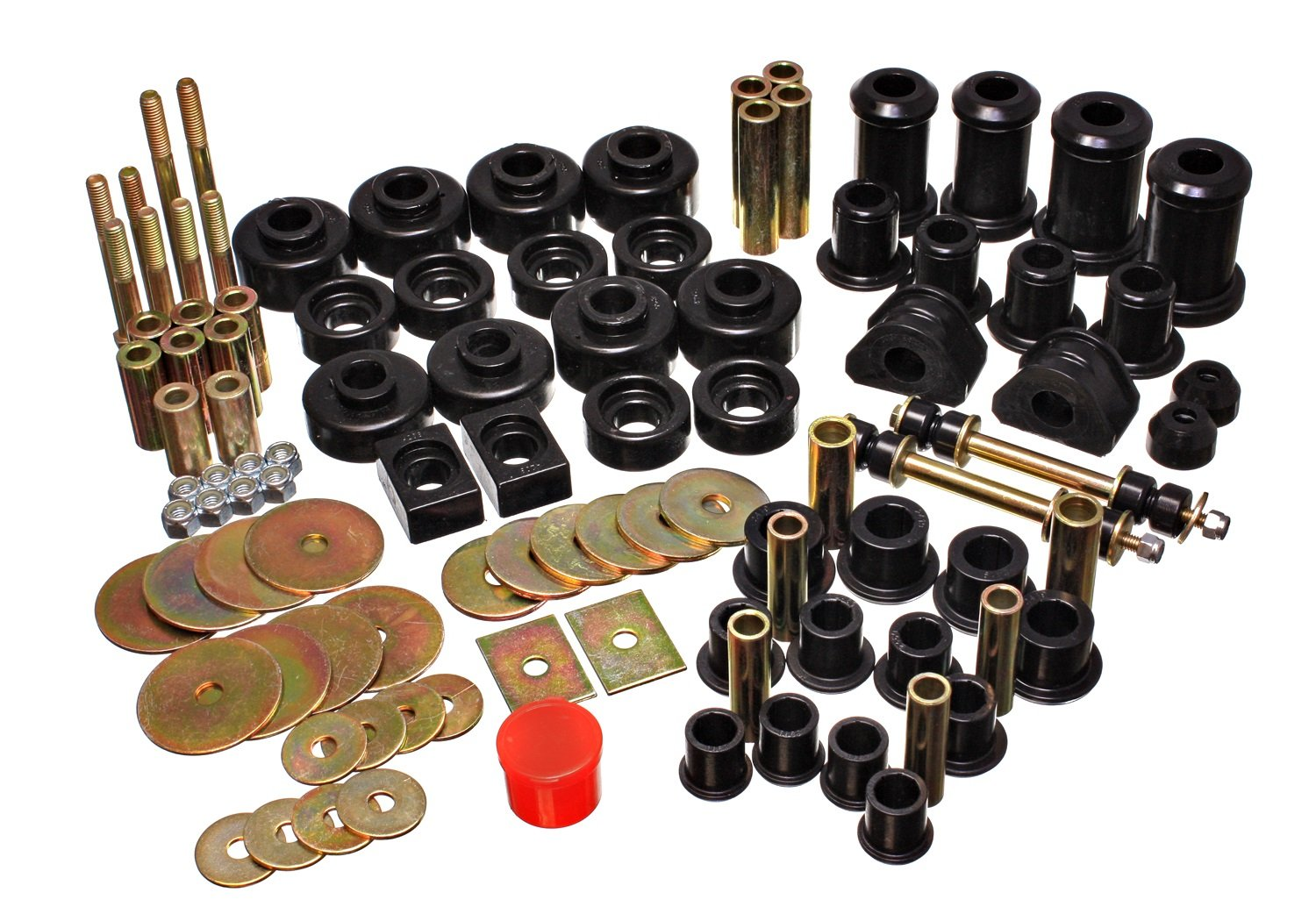 Energy Suspension 15.2109G Rear Spring Plate Bushings Services Stock Suspension - 4 Bushings Per Set