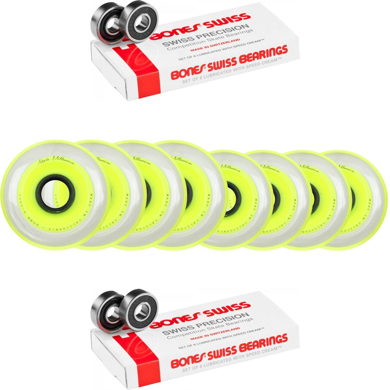 Labeda Millennium Gripper HILO Yellow Hockey Inline Wheels 76mm 80mm X-SOFT Swiss