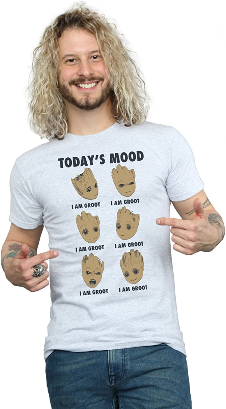 Marvel Hombre Guardians of The Galaxy Groot TodayS Mood Camiseta