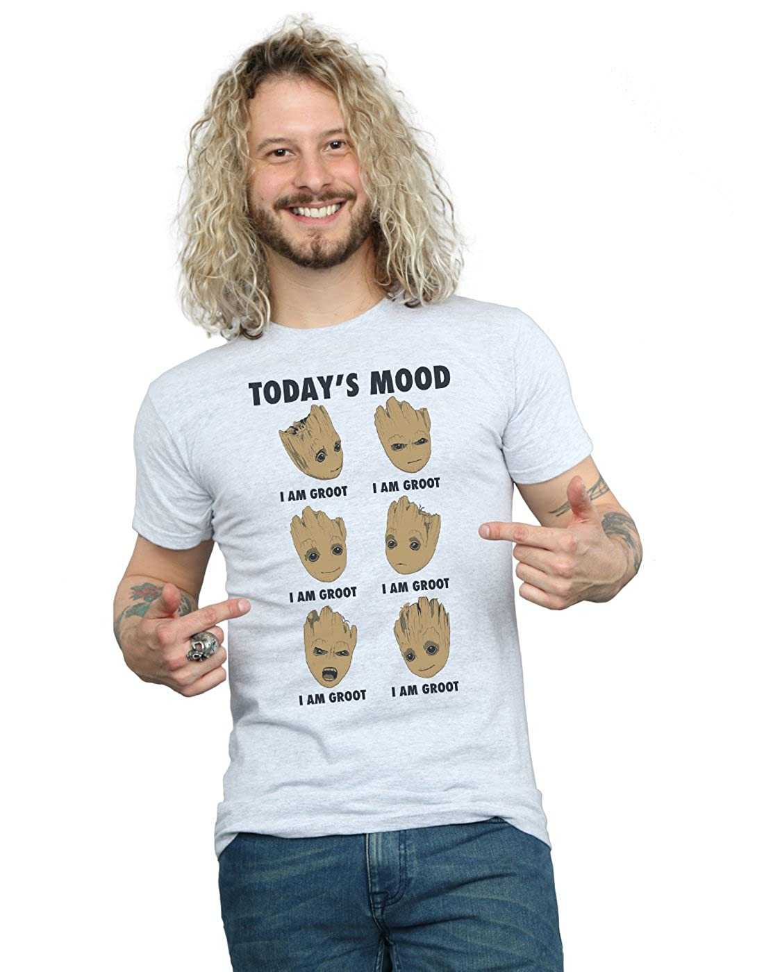 Marvel Homme Guardians of The Galaxy Groot Today's Mood T-Shirt Absolute Cult