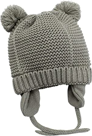 Baby Infant Warm Winter Cute Hat Toddler Girls Boy Knit Caps Beanie With Earflap