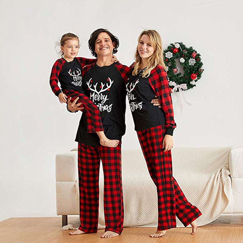 Beline Christmas Family Matching Pajamas Set Xmas Adult Kids ...