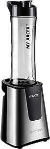 Ergo Chef My Juicer II Personal Juicer Smoothie Blender 300-Watt Stainless Steel (Personal Blender)