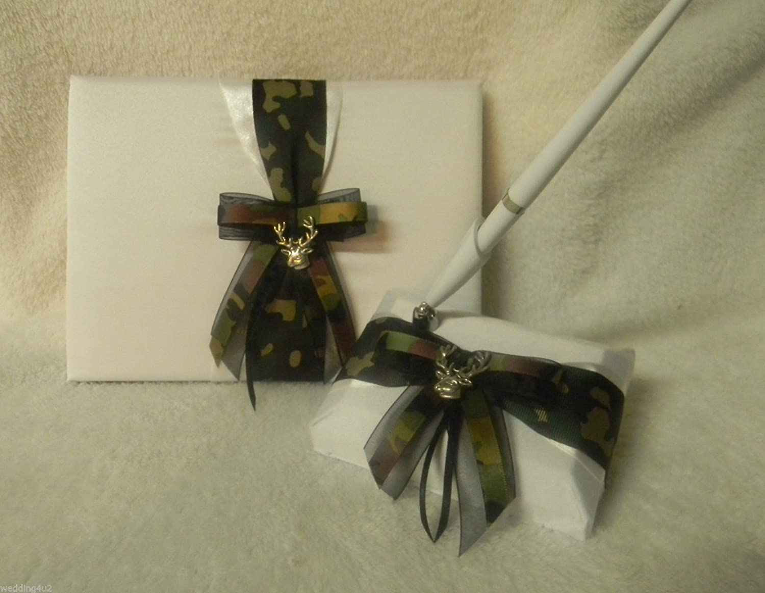 Wedding Party Ceremony White Pink Camo Bow Bridal Garter Deer Hunting Hunter