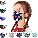 AfterSo Home Kids Face Bandanas, Cute Christmas Dinosaur Print Reusable Dustproof Ice Silk Thin Fabric Face Turban