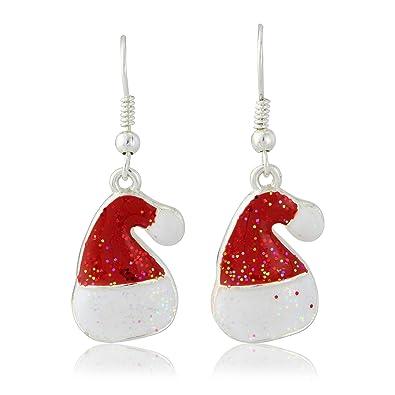 Modeschmuck ohrringe  Ohrringe Modeschmuck Weihnachten, Weihnachtsmannmütze, Rot ...