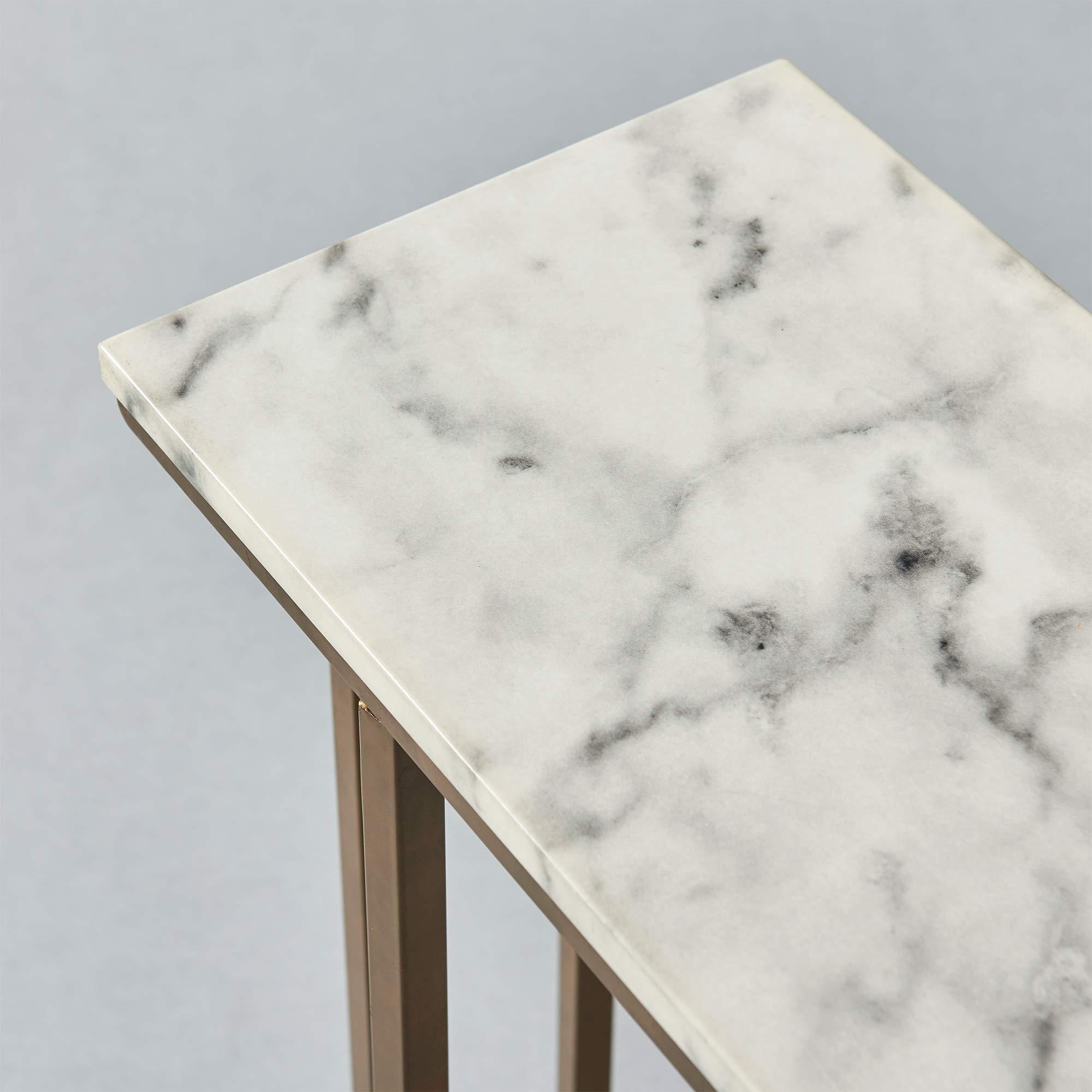 Versanora - Marmo C Shape Table - Faux Marble /Brass by Versanora (Image #17)