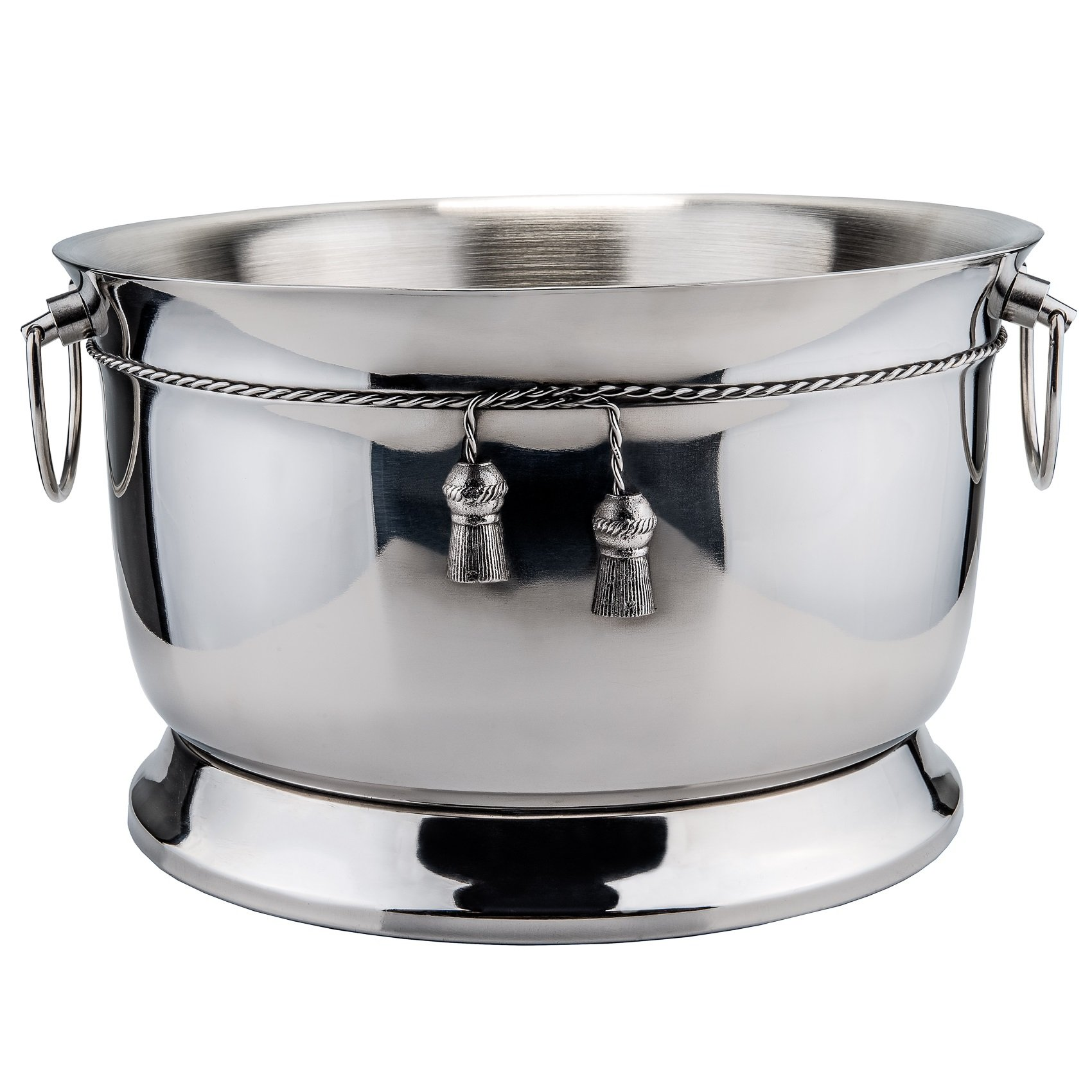 Old Dutch International Double-Walled Party Tub with Tie Knot, Stainless Steel