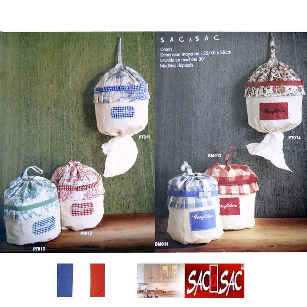 tirez les un /à un par le bas.30 X 10 X 18 cm Fab SACASAC /® Fleurs Rouge- Rentrez les sacs plastiques par le haut et France