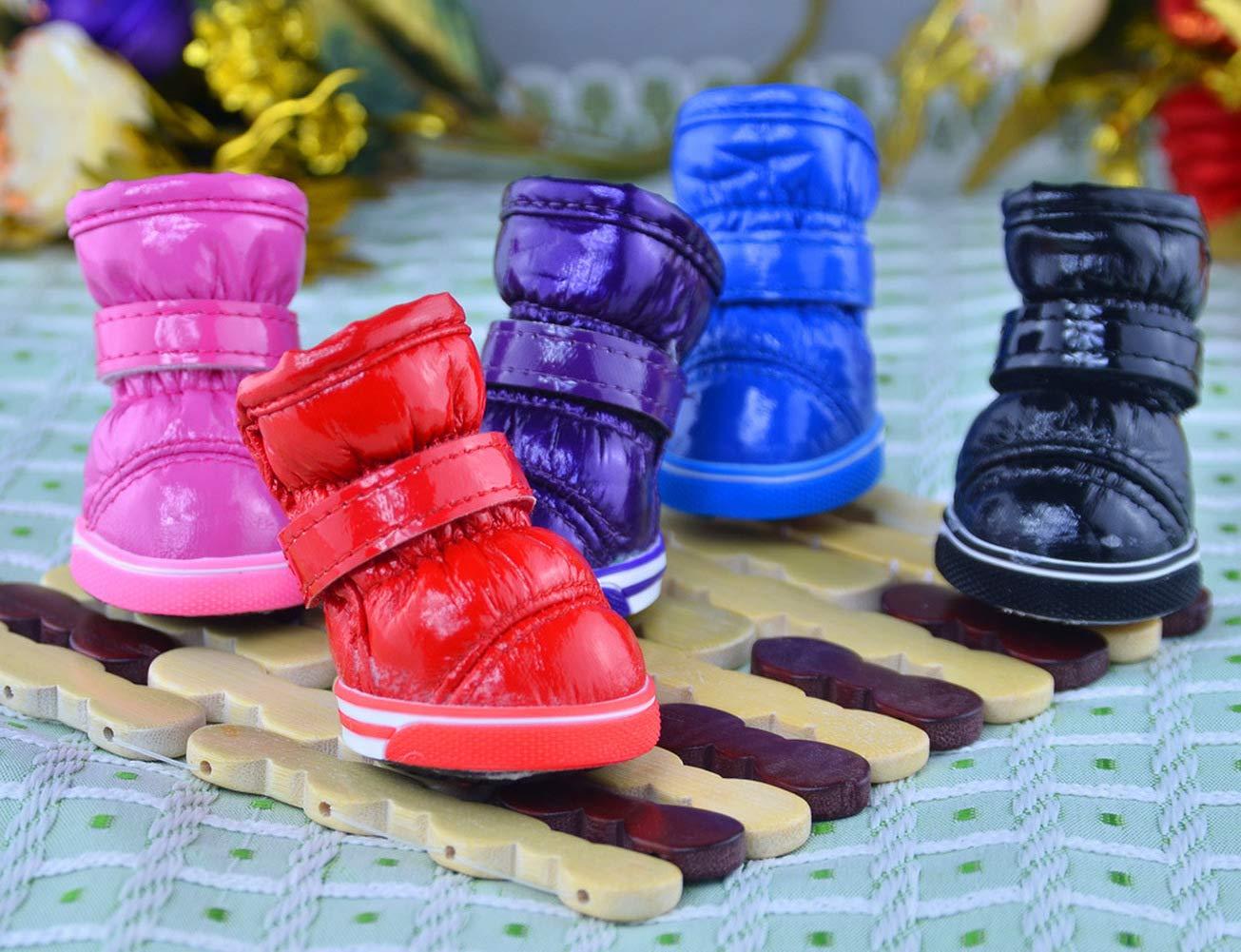 Yevison Cute Simple Dog Shoes Waterproof Non-Slip Pet Shoes