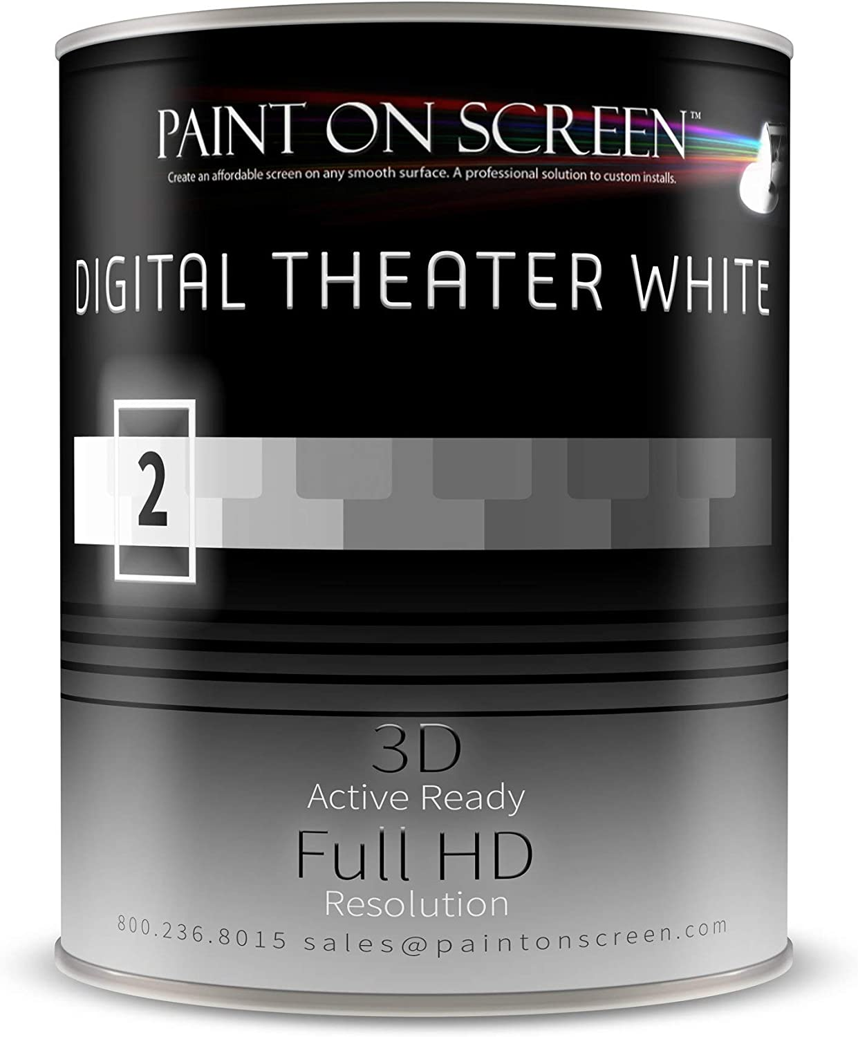 Paint On Screen Projector Screen Paint (G002 Digital Theater White - Gallon)