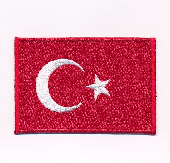 Hegibaer 40 X 25 Mm Türkei Flagge Türkiye Cumhuriyeti Patch Aufnäher Aufbügler 0633 A Auto