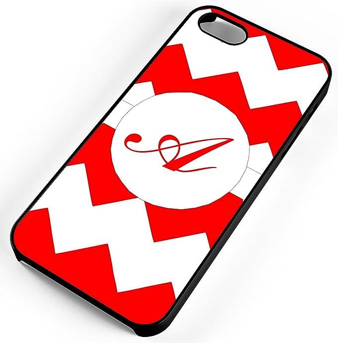 Amazon Com Iphone Case Fits Iphone 6s 6 Red Chevron Design Monogram