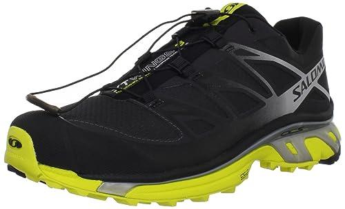 SALOMON XT Wings 3 Zapatilla de Trail Running Caballero, Negro/Amarillo, 40 2/3: Amazon.es: Zapatos y complementos