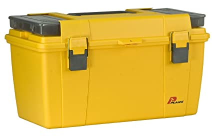NEW Plano Molding 100 15 Inch Tool Box Graphite Gray with Iron Yellow SHIPS FREE