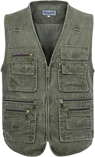 Gihuo Mens Casual Reversible Outdoor Softshell Fleece Vest