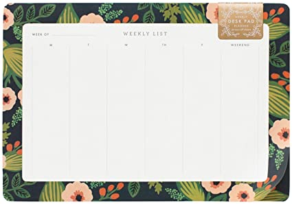 Amazon.com: Rifle Paper Co. Jardin Weekly Desk Planner ...