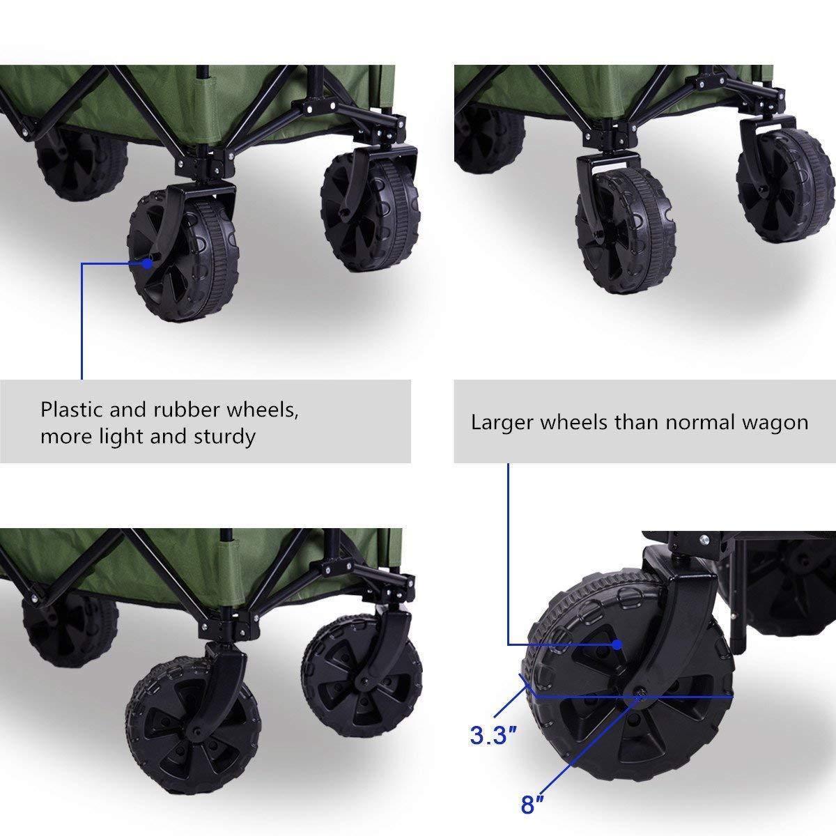 Amazon.com: Pingmai - Carrito plegable de 4 ruedas, para ...