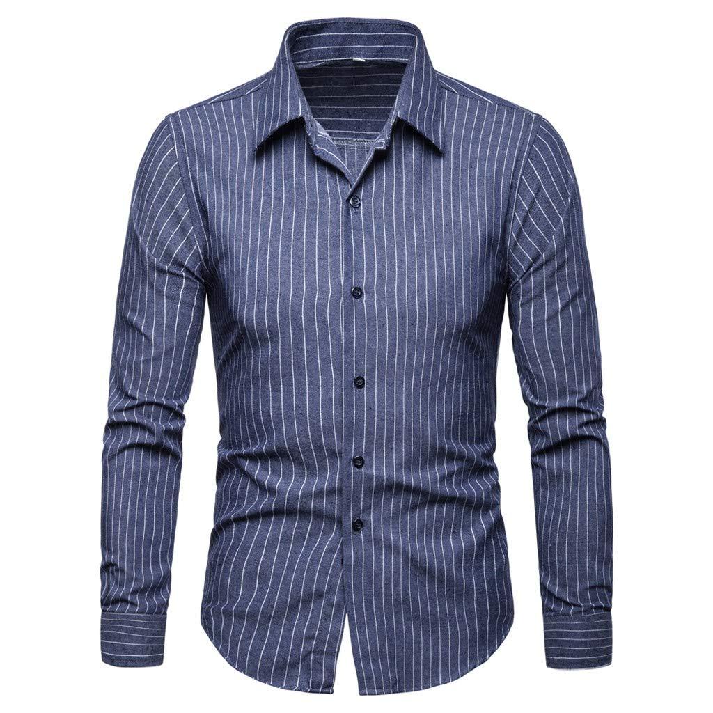 2019 Mens Long Sleeve Printed Dress Shirts Casual Button Down Regular Fit Men Shirt CieKen Mens Dress Shirts