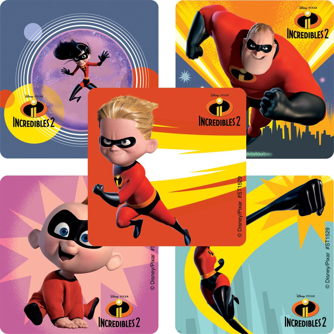 Incredibles 2 Movie stickers - Prizes and Giveaways - 100 per pack