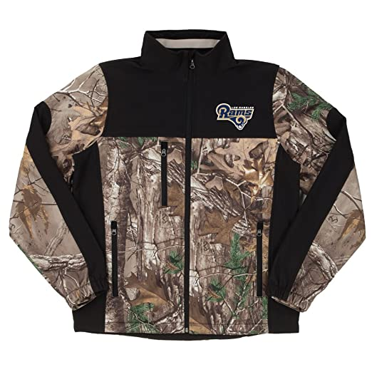 b86538eb Amazon.com : Dunbrooke Apparel NFL Hunter Camoflauge Colorblock Softshell  Jacket : Clothing