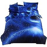 3D Galaxia Ropa de Cama,Funda de Edredón y Funda de Almohada,Juego de Cama,Estrella de la Nebulosa Universo Ropa de Cama